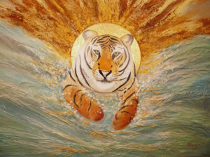 Le tigre nageur