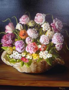 noga_eliezer_peinture_a_l_huile_bouquet_de_charme