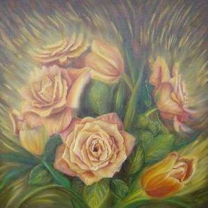 noga_eliezer_peinture_a_l_huile_le_bouquet_jaune
