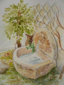 noga_eliezer_peinture_aquarelle_la_fontaine