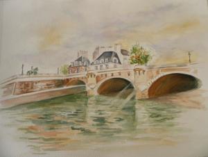 noga_eliezer_peinture_aquarelle_les_ponts_de_paris