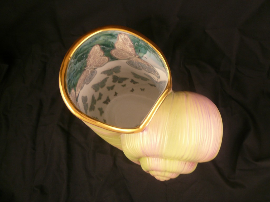 Vase escargot
