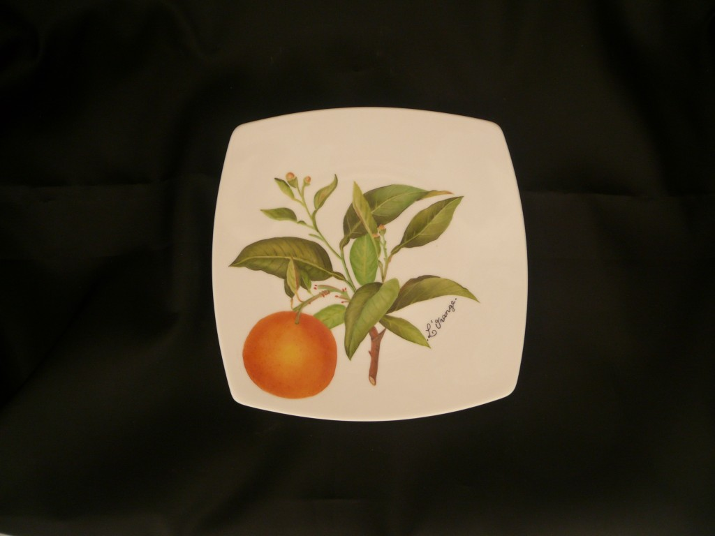 Assiette à l'orange