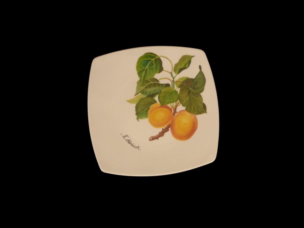 Assiette abricot