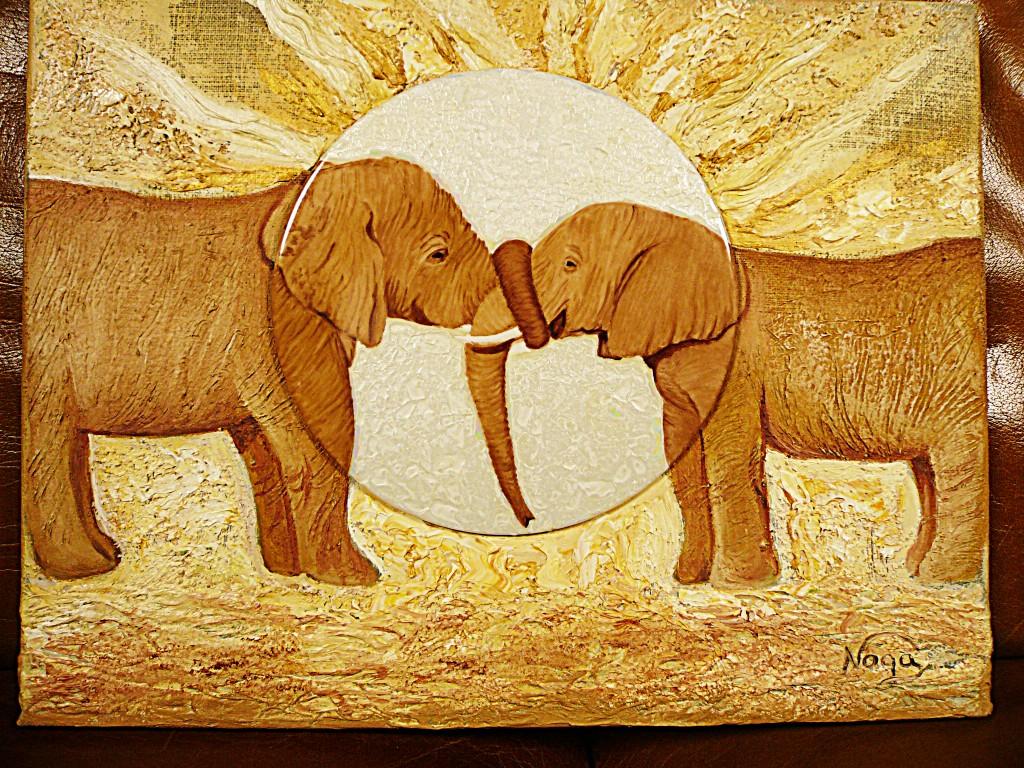 Le baiser des éléphants