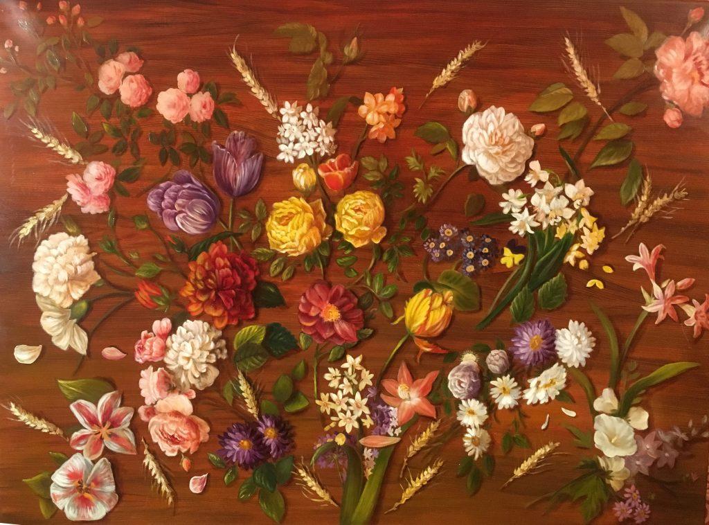 noga_eliezer_peinture_a_l_huile_Fleurs Parsemées
