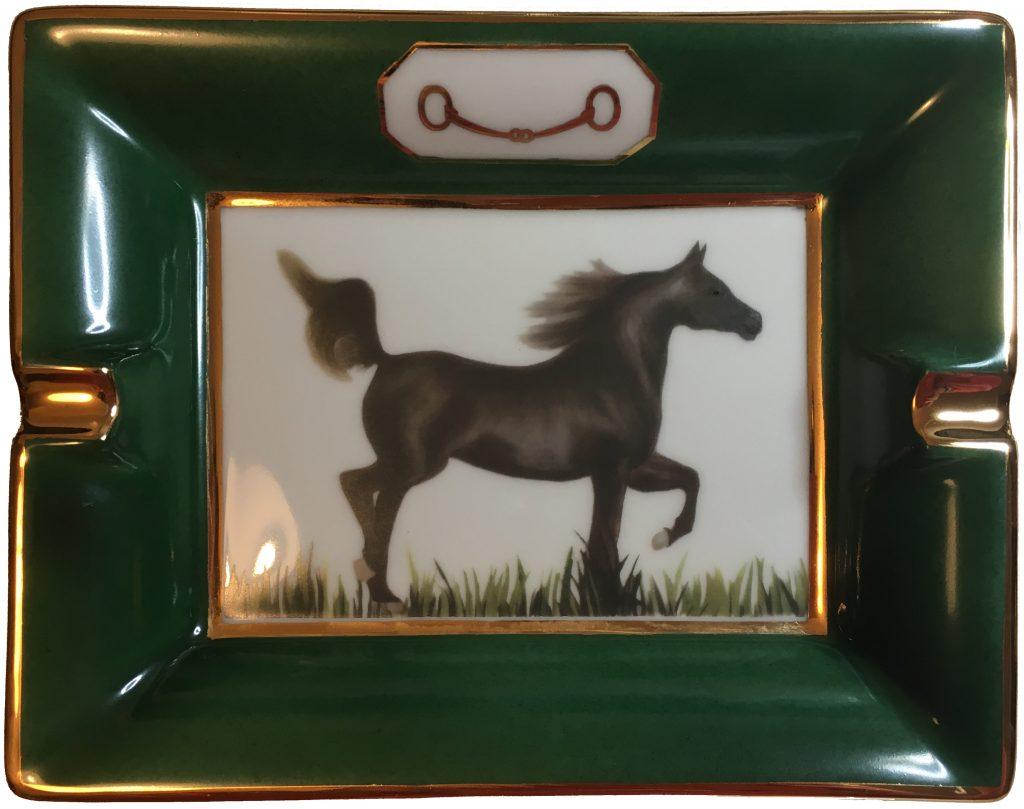Cendrier : Le cheval