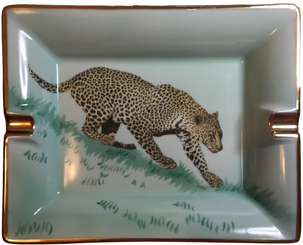 Cendrier : Le léopard