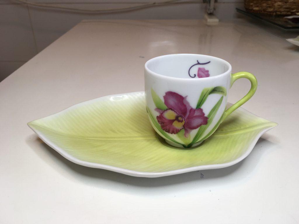 Tasse à café et sous tasse: « Fraîcheur de printemps »
