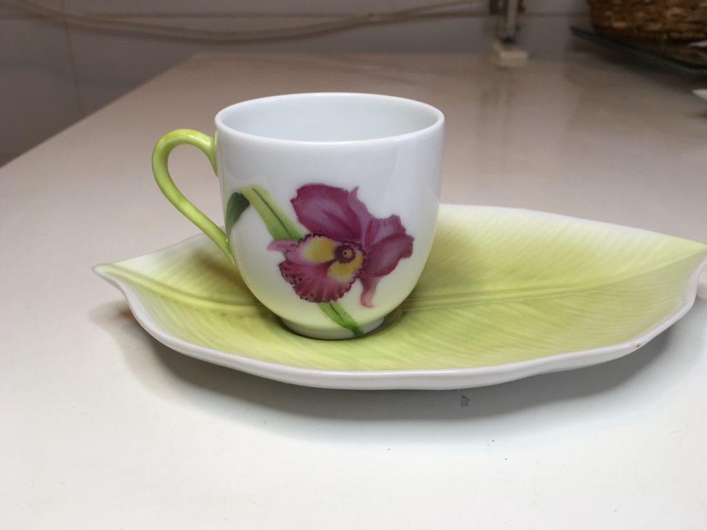 Tasse à café et sous-tasse: « Fraîcheur de printemps »