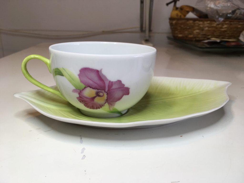 Tasse à thé et sous-tasse: « Fraîcheur de printemps »